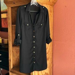 🛍2/$30🛍black button down shirt dress